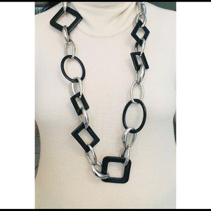 Chico's Long Geometric Links Necklace